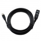 CMI USB 3.0 Male to Female Round Extension Data Cable - Black (500cm)