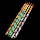 Nail Art Sable Acrylic Brush Pen - Multicolored (5 PCS)