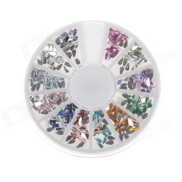 Shiny Nail Art Color Drop Drill - Multicolored top quality 1440pcs ss3 clear ab nail art rhinestones for nails 3d manicure decoration shiny non hotfix flatback crystal