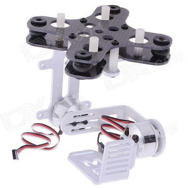 MF-BMP Brushless Gimbal Camera Mount Frame for Multicopters Aerial Photography / Gopro 1/2/3 - White hj5208 75t brushless gimbal motor for 5d2 camera fpv aerial photography black