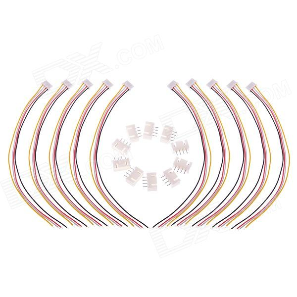 10 x 11.1V 3s1p JST-XH Connector Adapter Plugs for RC Lipo Battery Balance Charger - (10 PCS)
