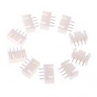 10*11.1V Adapter Plugs for RC Lipo Battery Charger - White (10PCS)