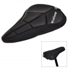 coolchange 10007 3D Soft Lycra Silicone Cushion Bicycle Saddle Pad Seat Cover - Black