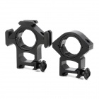 KDZ040 Aluminum Alloy 30mm Gun Mounts w/ Inner Ring + Hex Wrench - Black (2 PCS)