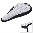 coolchange 10005  3D Soft Lycra Cushion Bicycle Saddle Pad Seat Cover - Black + Silver