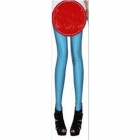 Fashion Fluorescent  Elastic Blended Cotton Leggings for Women - Bluish Green