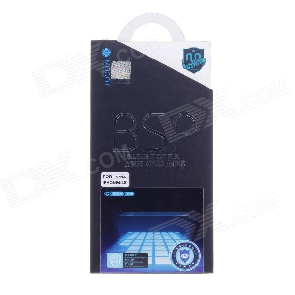 BSP Blue Light Eye Protection Screen Guard Film for Iphone 4 / 4S - Transparent