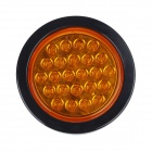GF-6602 2.4W 72lm 590nm 24-LED Yellow Light Car Tail Lamp - (12V)