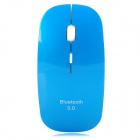 Ultra-Slim Bluetooth v3.0 Optical 800 / 1000 / 1200 / 1600dpi Mouse - Blue + White (2 x AAA)