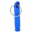 Free Soldier Aluminum Alloy Whistle for Hiking / Traveling - Blue