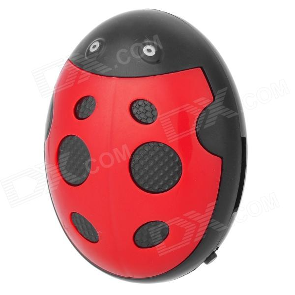 Creative Ladybug Style Rechargeable MP3 Player w/ TF - Red + Black