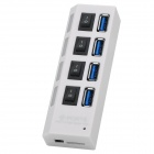 High-speed 5Gbps 4-Port USB 3.0 Hub - White + Black