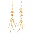 Tassel Style Zinc Alloy Dangle Earrings for Women - Golden (Pair)