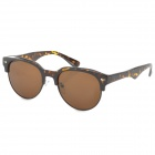 Retro Resin Lens UV400 Protection Sunglasses - Tawny