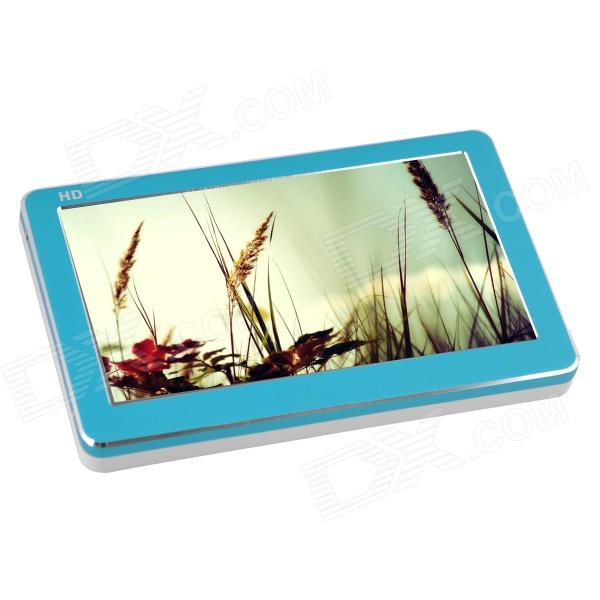 "T18 4.3"" HD Touch Screen MP4 Player w/ 16GB, 1080p AV Out, TF, FM - Blue"