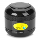 KUBEI 298 Mini Portable Wireless Bluetooth V3.0 Car / Cellphone Speaker w/ FM / TF / AUX - Black