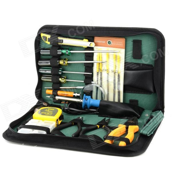LODESTAR L803618 Handy Portable 20-in-1 Maintenance Tool Kit Set - Multicolored