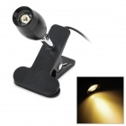 1W 80lm 3500K Clip Style USB Powered Warm White Light Night Light - Black + Silver