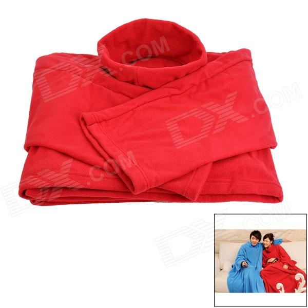 Juxiang HQS-Y23362 Multifunctional Thickened Warm Polar Fleece Blanket w/ Sleeves - Wine Red polar rcx5 run red
