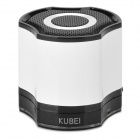 KUBEI 290 Bluetooth V3.0 Wireless Speaker w/ Handsfree / TF Card Slot / Mini USB - White + Black
