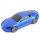 "Liweek S10 Stylish Portable Mini Car Style 0.7"" Display USB Speaker w/ TF / FM - Blue (32GB Max.)"