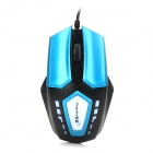 Stylish USB 2.0 Wired Optical 1600dpi Gaming Mouse - Blue + Black + White