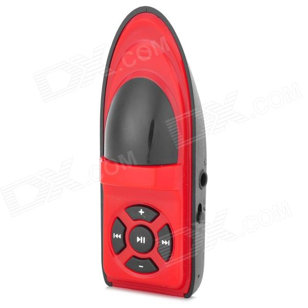 Creative Yacht Style MP3 Player w/ TF Card Slot / Mini USB - Red + Black