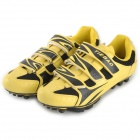 Tiebao Men's Bicycle Cycling Shoes - Black + Yellow (Pair)