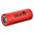 UltraFire 26650 6000mAh 3.7V Rechargeable Li-ion Battery - Red + Black