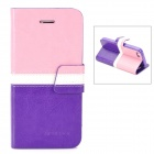 BOXIER LX-BXI4 Stylish Flip-Open PU Leather Case w/ Stand / Card Slots for Iphone 5
