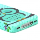 Cute Owl Pattern Protective TPU Back Case for Iphone 4 / 4S - Multicolored