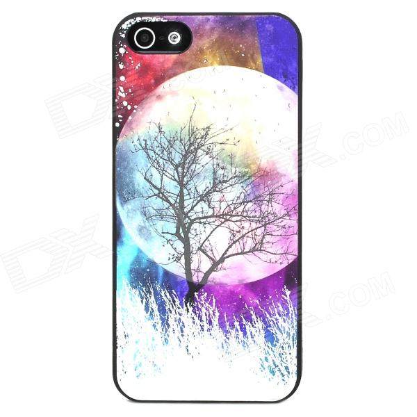 Glow-in-the-Dark Relief Round Moon Style Protective Plastic Back Case for Iphone 5 - Purple wells herbert george the first in the moon