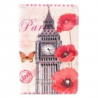 Retro Big Ben & Poppy Pattern PU Leather Flip Case w/ Auto Sleep for Ipad 2 / 3 / 4 - Grey
