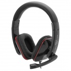 AITA AT-358MV Stereo Headphone w/ Microphone / Volume Control - Black + Red (3.5mm Plug)