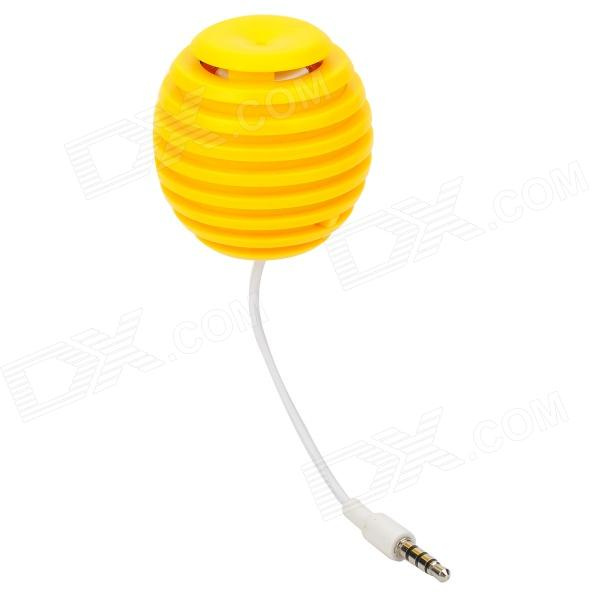Grenade Style Universal Mini Rechargeable 3.5mm Speaker - Yellow