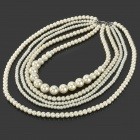 Luxurious Decoration Pearl Necklace - White
