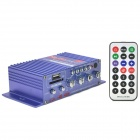 A6 Car / Motorcycle Stereo Amplifier w/ Remote Controller - Blue (SD / USB Decode)