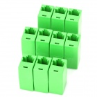 RJ45 Networking Female to Female Adapters - Green (10 PCS)