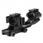 KDL026 25.4mm Dual Aluminum Alloy Bracket Gun Rail Mount w/ Hex Wrench - Black