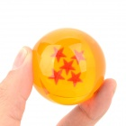 Three-Dimensional Star Crystal Acrylic Balls Set - Orange (7 PCS)