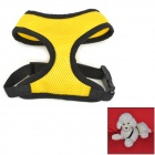Doglemi DM40050-1 Mesh Fabric Chest / Back Belt for Pet Dog - Yellow + Black (M)