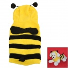 JUQI Bee Style Coral Fleece Clothes  for Pet Dog - Yellow + Black (M)