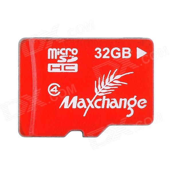 MAXCHANGE Micro SD / TF Memory Card - Red + White (32GB / Class 4) потребительские товары m l xl xxl xxxl m7 3