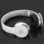 AT-BT802 Bluetooth v2.1 + EDR Wireless Headphone - branco + cinza de prata + preto