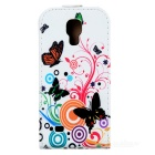 Flower Style Flip-Open PU Leather Case for Samsung Galaxy S4 Mini i9190 - Multicolor