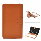 "Ultra-Thin Micro USB 80-Key Keyboard PU Leather Case for Samsung or other 7"" Tablet PC - Brown"