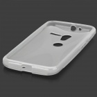 Stylish Protective Silicone Back Case for Motorola X Phone - Translucent White