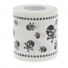 Novelty Skull Pattern Toilet Paper 3-Layer Roll Tissue - White + Black