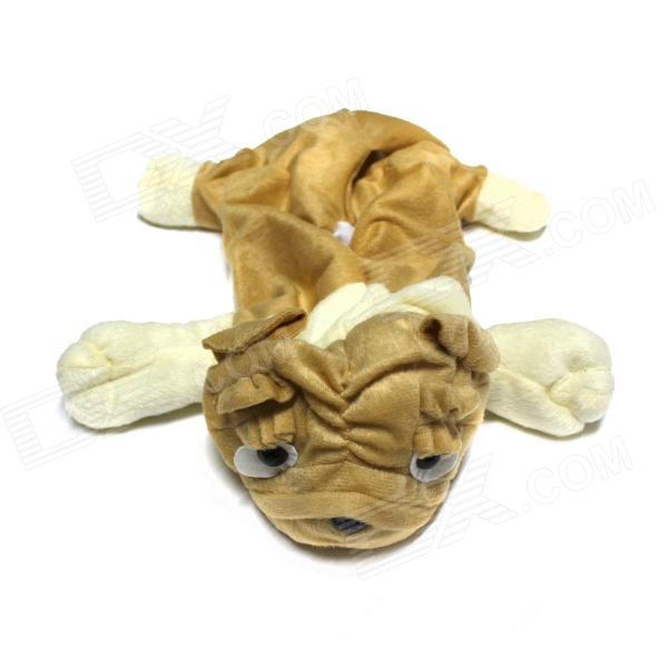 Cute Pug Style Automobile Cover for Tissue Box - Beige + Light Brown bomb style toilet tissue box orange
