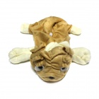 Cute Pug Style Automobile Cover for Tissue Box - Beige + Light Brown